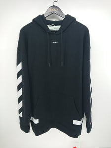 Off White Diagonal Arrow Pullover Hoodie