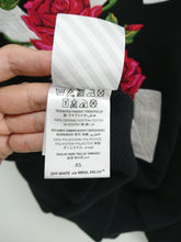Off White Embroidered Rose Zipped Hoodie