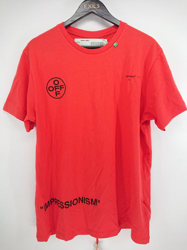 Off White SS19 Diagonal Red Stencil Tee