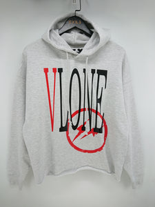 Vlone x Fragment Staple Hoodie (Grey/Red)