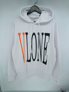Vlone Staple Hoodie (Grey/Orange)