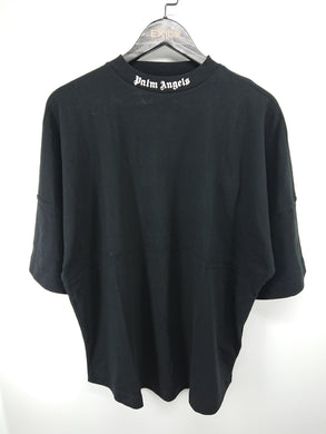 Palm Angels Black Mock Neck Tee