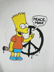 Off White Simpson Mega Oversized Peace Tee