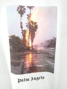 Palm Angels White Burning Tee