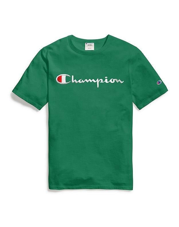 Champion Embroidered Script Tee - Green