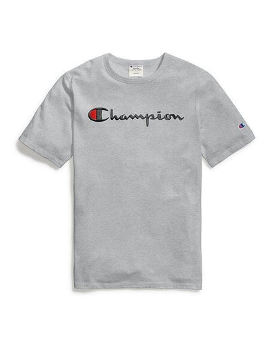 Champion Embroidered Script Tee - Grey