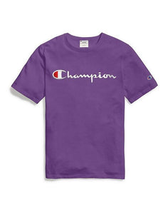 Champion Embroidered Script Tee - Purple