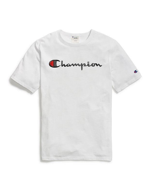 Champion Embroidered Script Tee - White