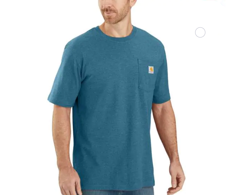 Carhartt Workwear Pocket Tee - Ocean Blue Heather