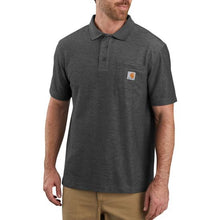 Carhartt Work Pocket Polo Tee - Carbon Heather