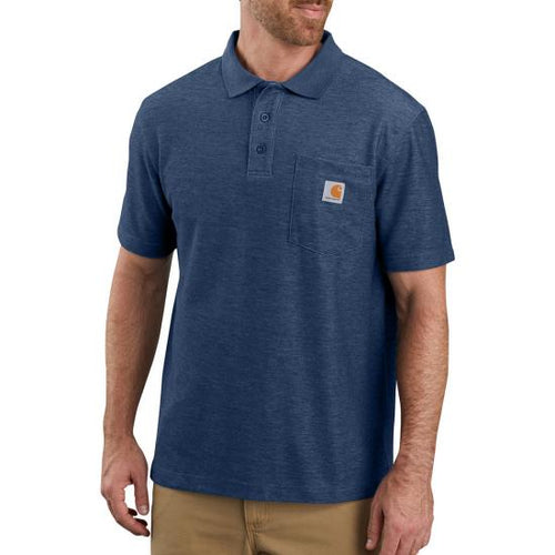 Carhartt Work Pocket Polo Tee - Cobalt Blue