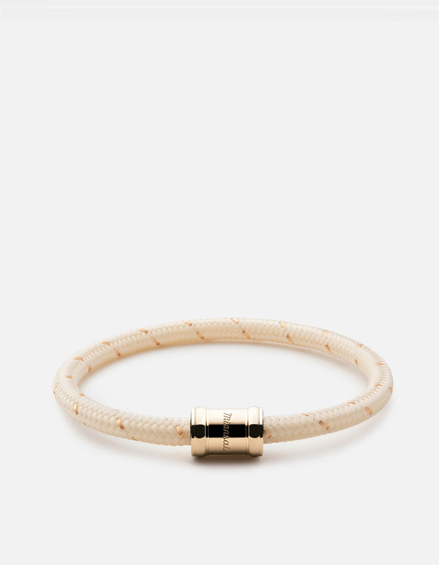 Mini Single Rope Casing Bracelet in Gold