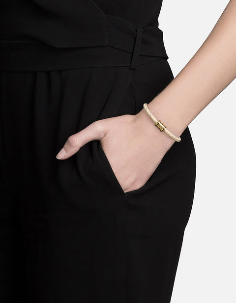 Mini Single Rope Casing Bracelet in Gold - The Edition Shop