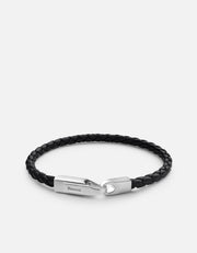 Crew Leather Bracelet in Matte Silver - The Edition Shop