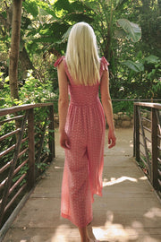 Marianna Jumpsuit in Red Gingham