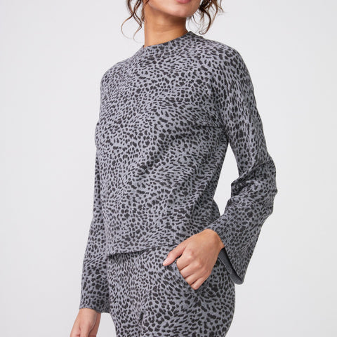 Mini Leopard Mock Neck Long Sleeve