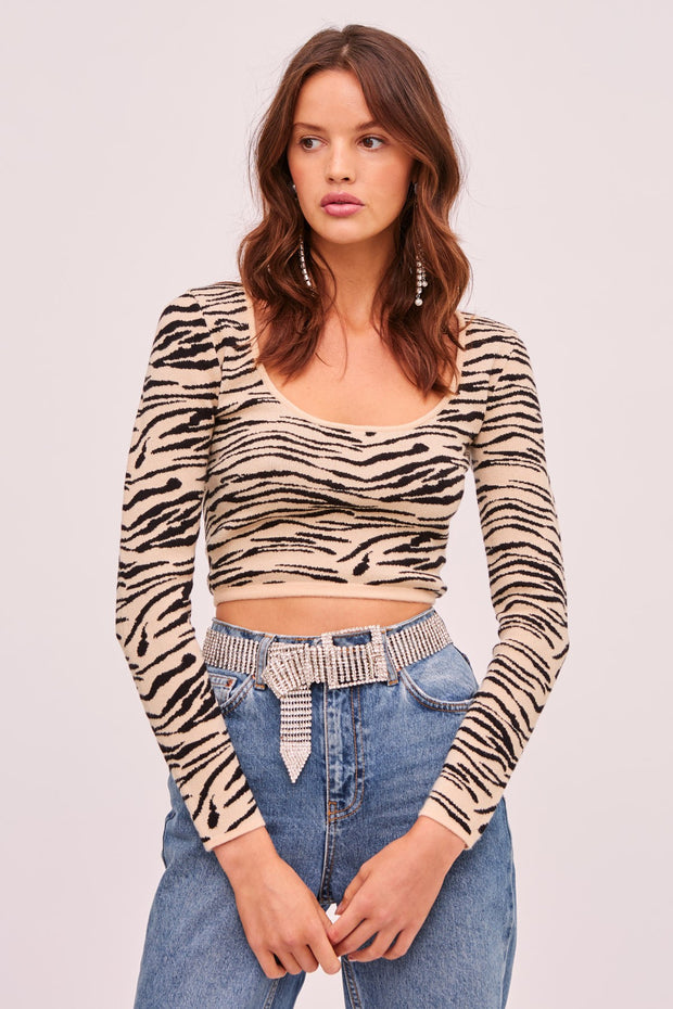 Tiger Knit Top