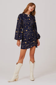 Chains Long Sleeve Dress
