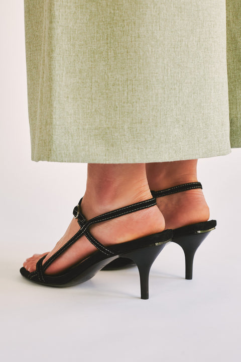 Strappy Suede Sandal - The Edition Shop