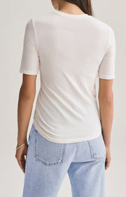 Elie Fitted Tee in Tissue