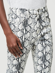Grey Python Ali High Rise Skinny Cigarette - The Edition Shop