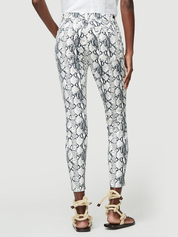 Grey Python Ali High Rise Skinny Cigarette