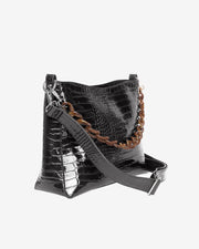 Amble Croco in Black - The Edition Shop
