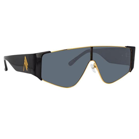 Carlijn Shield Sunglasses in Black - The Edition Shop