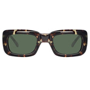 Marfa Rectangular Sunglasses in Tortoiseshell - The Edition Shop
