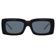 Stella Rectangular Sunglasses in Black - The Edition Shop