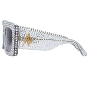 Stella Rectangular Sunglasses in Clear - The Edition Shop