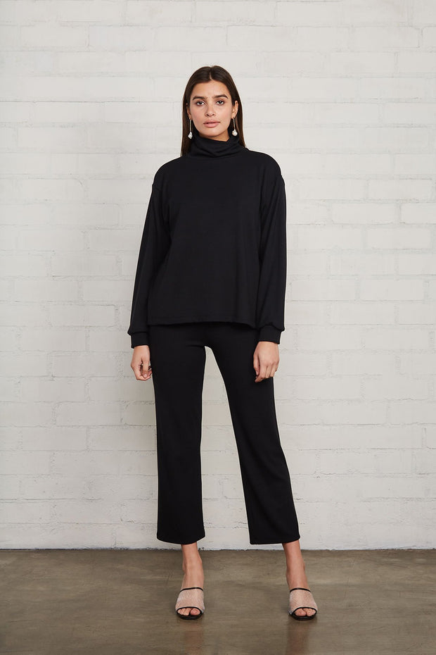 Luxe Rib Turtleneck Sweatshirt - The Edition Shop