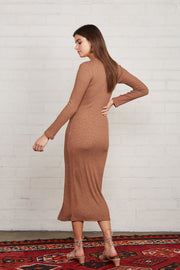 Metalic Rib Snap Front Dress