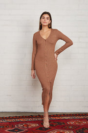 Metalic Rib Snap Front Dress - The Edition Shop