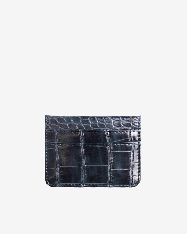 Card Holder Croco in Night Sky