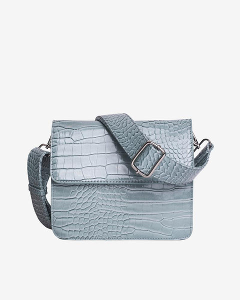 Cayman Shiny Strap Bag in Baby Blue