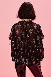 Delta Blouse in Black Floral