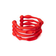 Failé 3D Bangle in Opulent Red