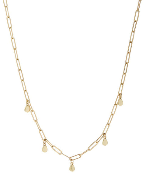 Golden Nugget Shaker Necklace