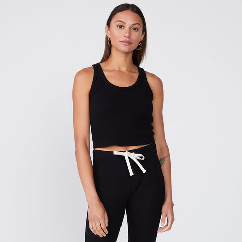 Brushed Thermal Cropped Scoop Tank