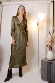 Goldie Check Long Sleeve Dress