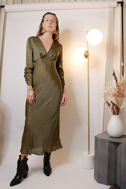 Goldie Check Long Sleeve Dress - The Edition Shop