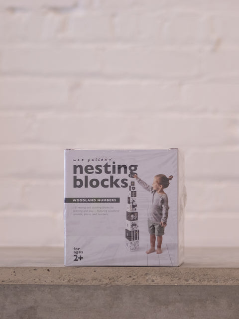 Nesting Blocks - Woodland Numbers