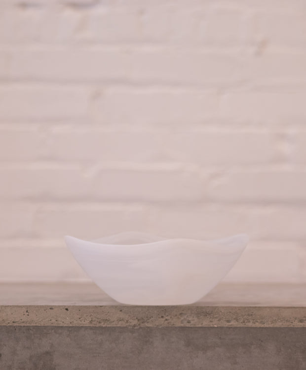 Small Frosted Alabaster Bowl