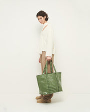 Juna in Dusty Green Croco - The Edition Shop