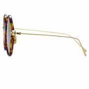 Linear 9 C10 Round Sunglasses in Tortoiseshell Frame - The Edition Shop