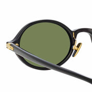 Linear 11 C6 Oval Sunglasses in Black Frame