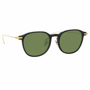 Linear 16 C9 D-Frame Sunglasses in Black Frame - The Edition Shop