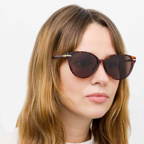 Linear 26 C8 Cat Eye Sunglasses in Tortoiseshell Frame