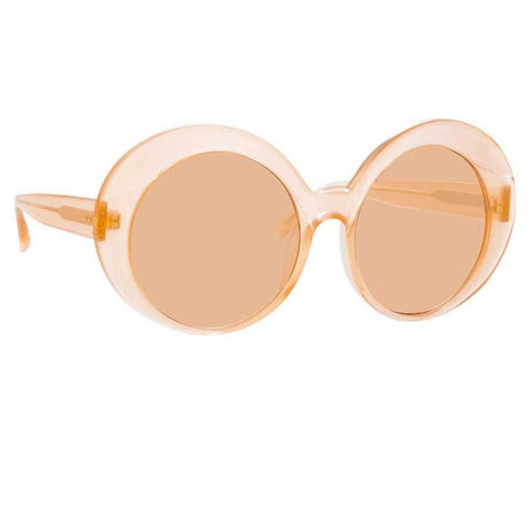 844 C3 Oversized Sunglasses in Peach Frame - The Edition Shop